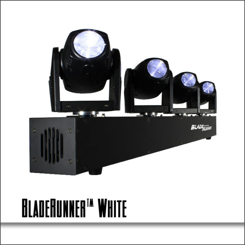 BladeRunner White 4 Moving Head Fixture & Blizzard Lighting BladeRunner™ White / DISCONTINUED u0026 NO LONGER ... azcodes.com